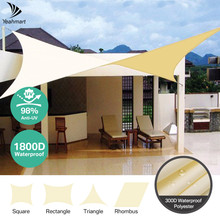 Beige Sun Shade Sail Square Rectangle Triangle Sunshade Net Awnings Protection Outdoor Canopy Garden Patio Pool Sun Shelter Tent