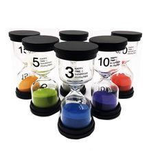 6 sztuk Kid 6 kolory klasie gry klepsydra zegar zabawki montessori klepsydra klepsydra domu zabawki dekoracyjne dla dzieci dla dzieci #25