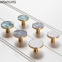 Gran venta manija de latón de la personalidad del cajón de la manija del armario de la puerta de la cocina manija de los muebles de moda decoración WSHYUFEI