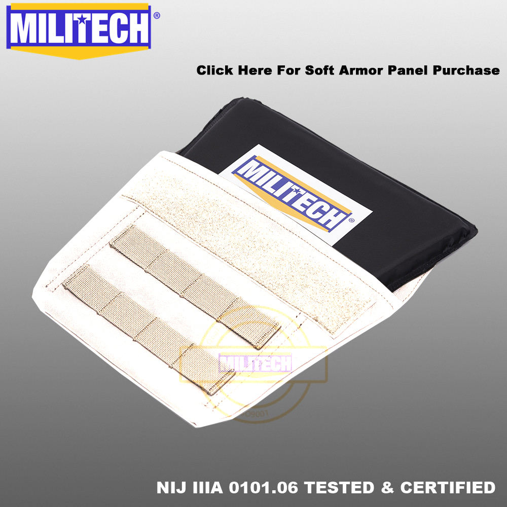 MILITECH Groin Aramid Ballistic Panel Bulletproof Plate Soft Armour NIJ IIIA 3A 0101.06 & NIJ 0101.07 HG2 Groin Protection Panel
