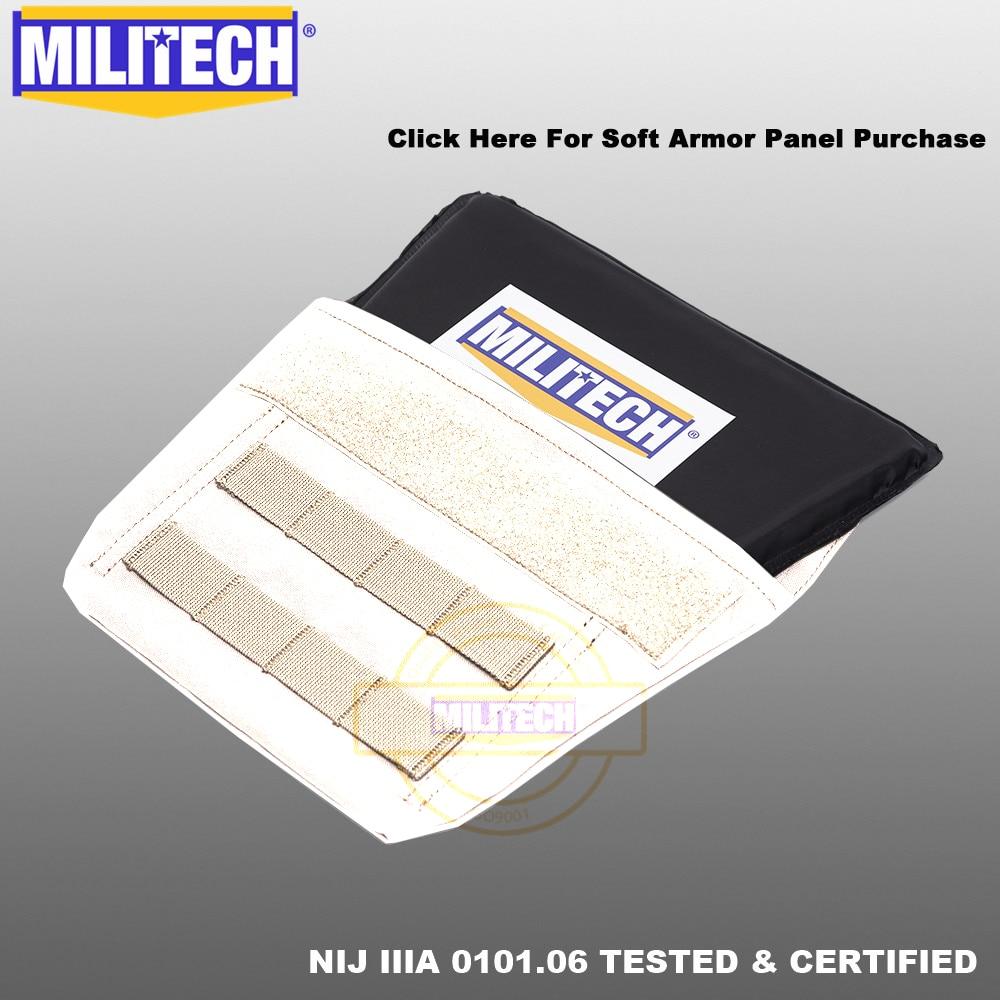 MILITECH Groin Aramid Ballistic Panel Bulletproof Plate Soft Armour NIJ IIIA 3A 0101.06 & NIJ 0101.07 HG2 Groin Protection Panel