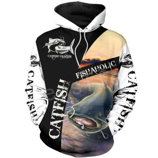 Tessffel New Fashion Animal Marlin Bass Fishing Harajuku Casual Pullover 3DPrint Zipper/Hoodie/Sweatshirt/Jacket/Mens Womens S19