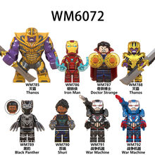 Avengers Legoed Endgame Super Hero Infinity War Spider Man Iron Man Thor Black Panther Minifigured Thanos Blocchi di Costruzione Giocattoli(China)