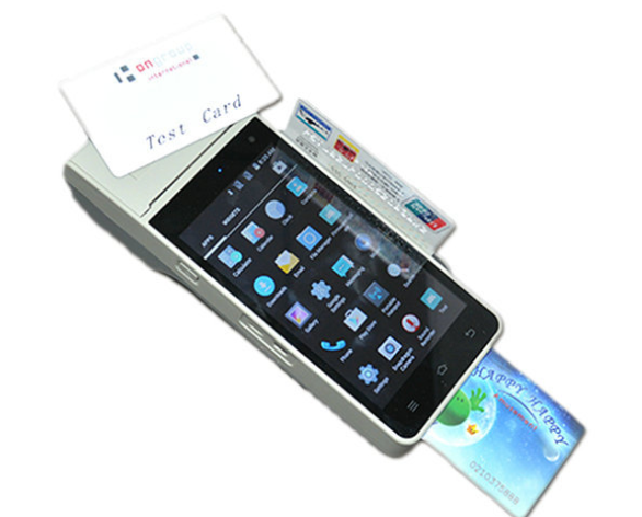 4G English Version POS Handheld Payment Terminal Contact IC+NFC+MSR Printing Smart POS Terminal