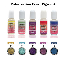 QIAOQIAO DIY 10g Pearl Pigment Liquid Polarization Dye Resin Epoxy for Jewelry Making Crafts Handmade