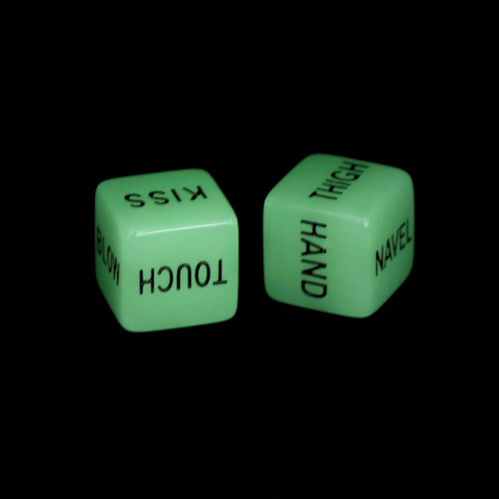 2pcs Funny Glow In Dark Dice Toys Adult Couple Lovers Games Aid Party Toys Gifts Enjoy Funny Games Light-up Toys