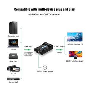 Image 4 - Convertidor exclusivo de Audio y vídeo SCART a HDMI, 1080P, adaptador de señal AV a HDMI, receptor HD, TV con enchufe de alimentación de la UE, caja Original