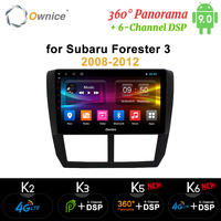 Ownice 360 Panorama Android9.0 Car DVD Radio GPS Navi Player k3 k5 k6 For Subaru Forester 3 XV WRX 2008 2009 2012 4G LTE DSP