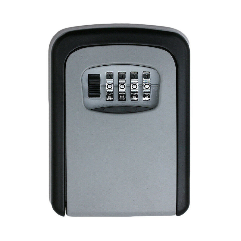 1PC 4 Digit Combination Key Lock Box Wall Mount Safe Security Storage Case Organizer For Car Padlock Keys