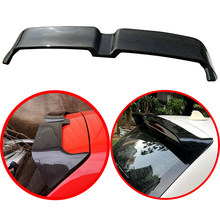For Volkswagen VW Polo 2011-2017 ABS Spoiler Carbon Fiber Look or Glossy Black or Without Paint Polo Rear Roof Wing