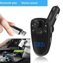 Bluetooth FM Transmitter FM MP3 Player Modulator Handsfree Dual USB  Charger  Support  TF Card U  Disk children cold winter warm down jacket girls thickening boy long parka real fur hooded outerwear coats kids clothing girl clothes