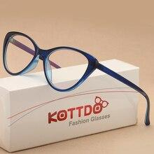 KOTTDO, Модные Винтажные оправа для очков в стиле кошачьи глаза, женские очки для чтения, оптические очки для унисекс, очки UV400