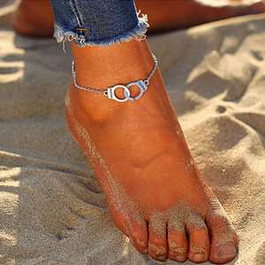 Anklets Gold Jewelry Link-Chain Silver-Color Vintage Bohemian Beach Women Simple New