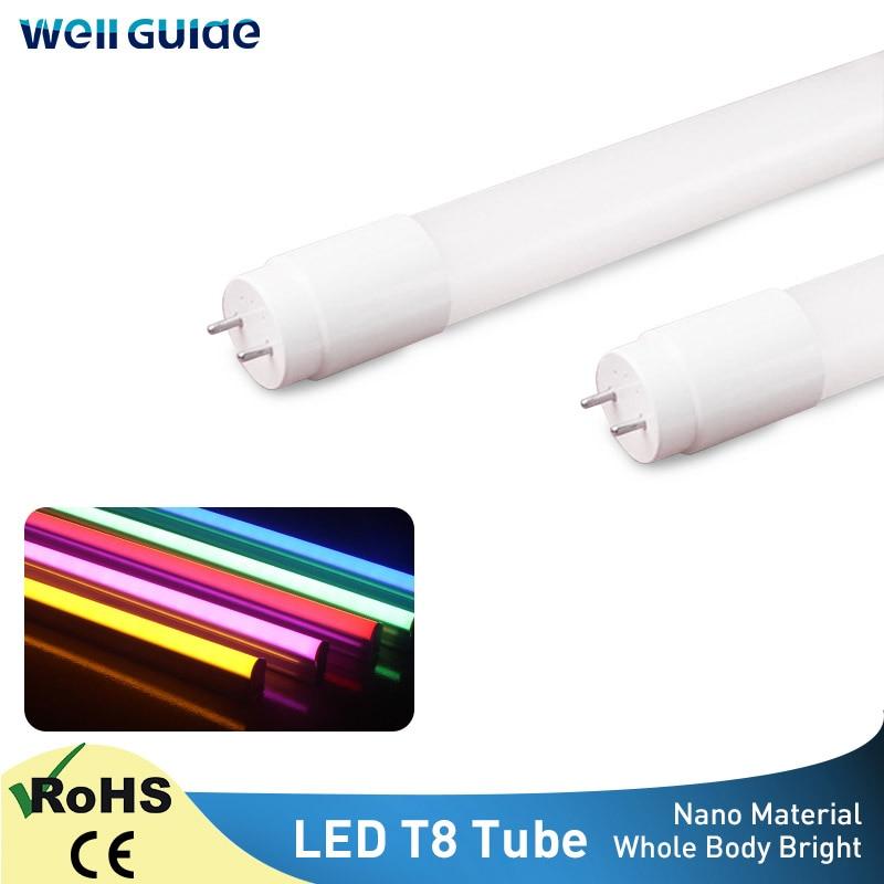 LED Tube T8 LED Lamp Super Bright 60cm 10W LED Lampara Tube Wall Lamp Bulb Lamp Light Home Light High Power Cold Warm White 220V