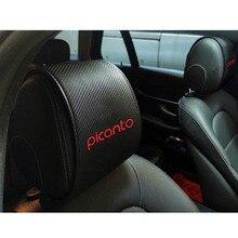 Car-Headrest-Covers Kia Picanto for Carbon-Fiber Case Interior-Accessories 1PC