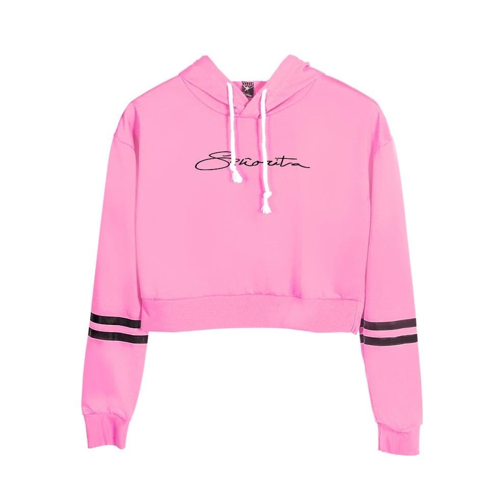 Fashion Design Hot Sale Shawn Mendes Navel-Hoodies Girls Fashion Casual Black Navel Sweatshirt Shawn Mendes Women's Sexy Hoody S