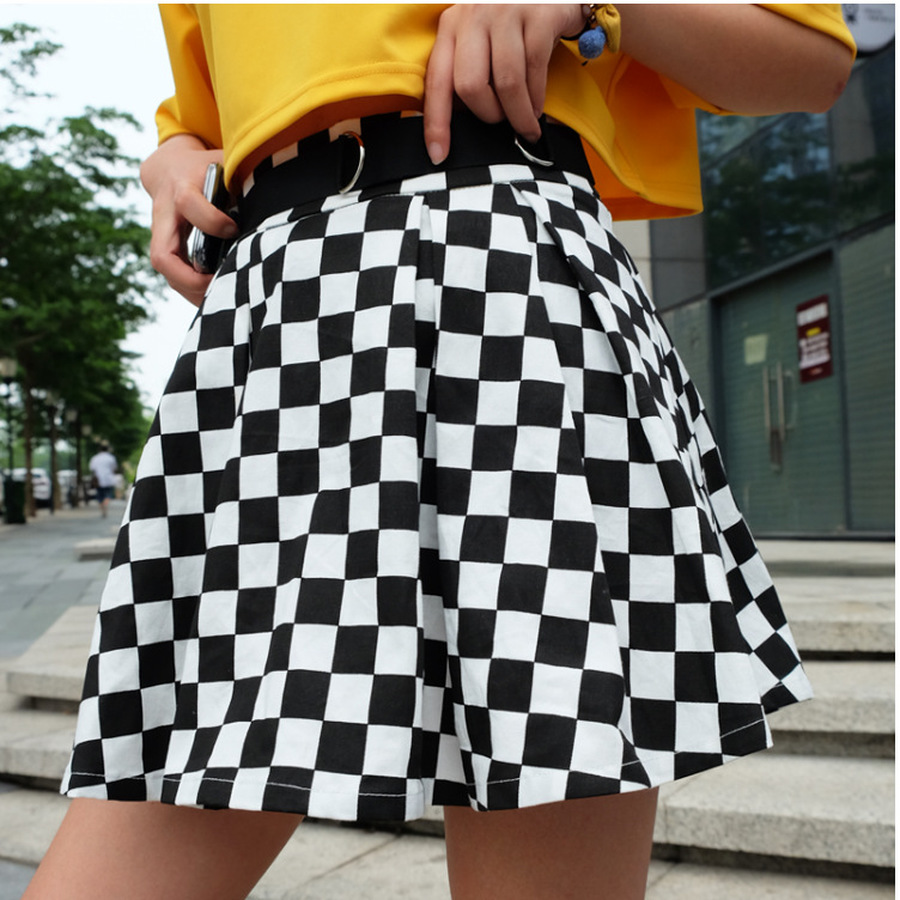 Disweet Pleated Plaid Skirts Womens High Waisted Checkered Skirt Harajuku Dancing Korean Style Sweat Short Mini