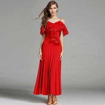 Ballroom Dance Costumes Woman Modern Waltz Tango Dress /standard Dance Clothes