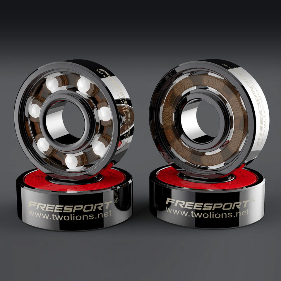 White Black Ceramic Speed Inline Skates Bearing 608zz 8*22*7mm Deep Groove Skating 7 Balls ABEC-9 Skateboard Bearing H002