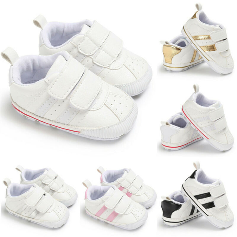 2020 New Female Baby Girls Shoes 0-18 Months Toddler Boy First Walkers Shoes Pre-Walker White Pram Shoes Trainers