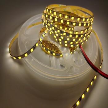 DC12V LED Strip 2835 SMD 120LEDs/m 5M 4MM Flexible LED Rope Ribbon Tape LED Light Lamp Natural White / Warm White soft rope bar light silicon rubber tube dc12v flexible led strip neon tape 5m 120leds m smd 2835 outdoor waterproof light