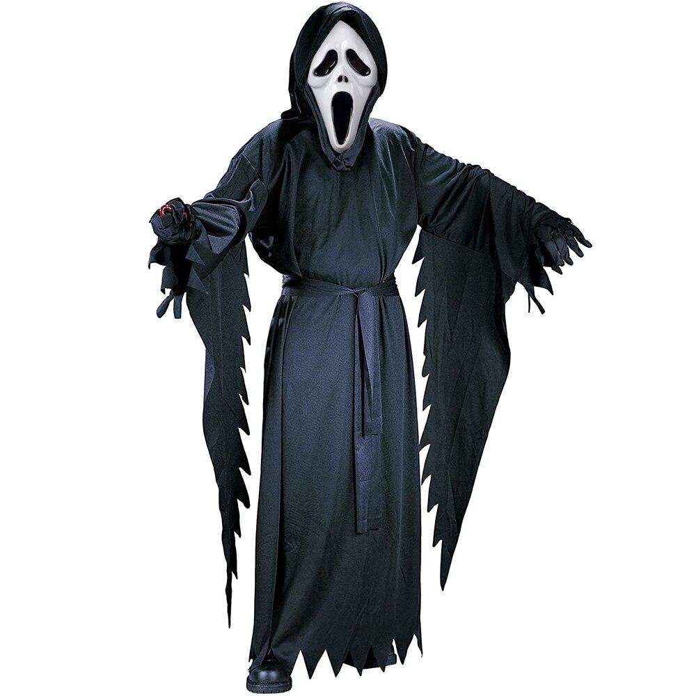 Детский карнавальный костюм для косплея, с капюшоном, призраком и криком