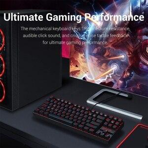 Image 2 - Redragon Teclado mecánico para Gaming K552 KUMARA, 87 teclas, retroiluminado, Rojo