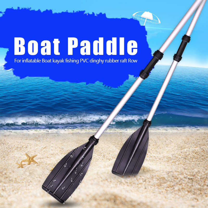 2Pcs Aluminium Alloy Paddle For Inflatable Boat PVC Kayak Fishing Paddles Detachable Assemble Canoe Oars Boat Accessories