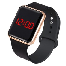 Sport Digital Watch Women Men Square LED Watch Silicone Electronic Watch Women