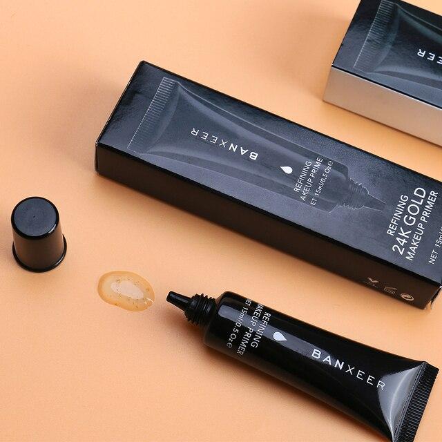 BANXEER 24k Gold Makeup Primer Gel Makeup Primer Face Lips Eyes Makeup Invisible pores Whiten Base Pore Perfecting Prime Makeup 5