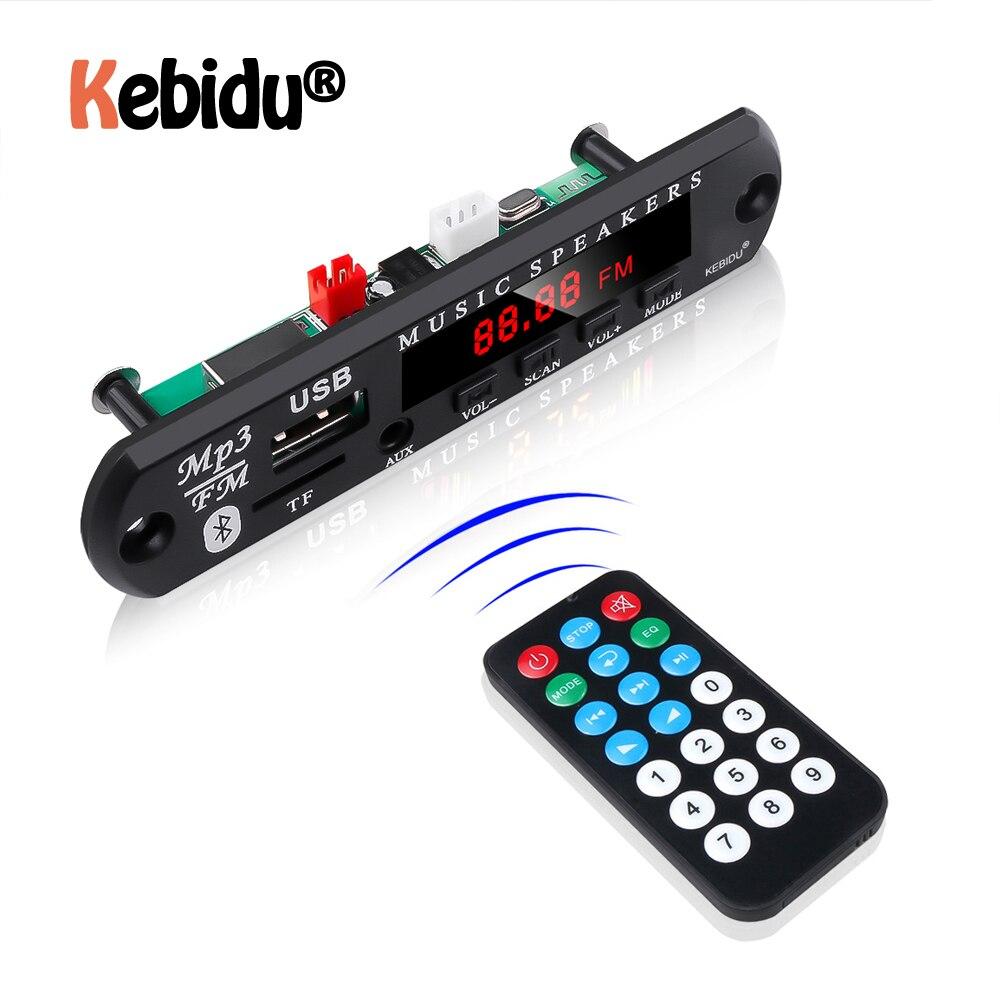 5V 12V MP3 WMA Decoder Board Audio Module Support USB TF Radio Bluetooth5.0 Wireless Music Car MP3 Player With Remote Control(China)