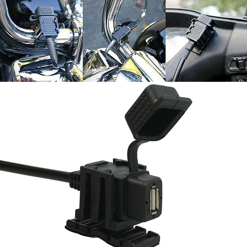 Waterproof Motorcycle USB Mobile Phone Power Supply Port Socket Motorcycle USB Charger Power Socket Outlet Adapter Motorbike