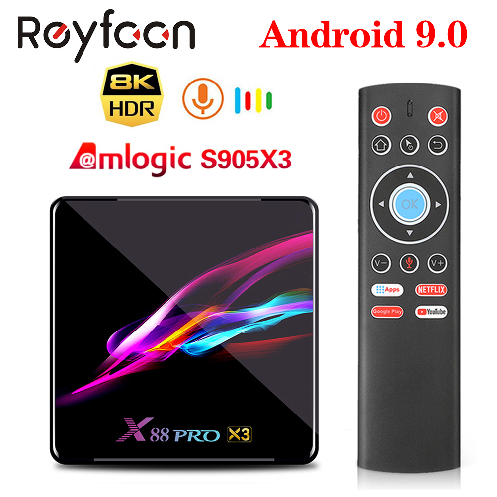 X88 PRO X3 Android 9.0 TV Box Amlogic S905X3 Quad Core 5G Wifi 4K 2GB 16GB 4GB 128GB Set Top Box Google Media YouTube 64GB 32GB