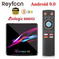 X88 pro x3 android 9.0 caixa de tv amlogic s905x3 quad core 5g wifi 4 k 2 gb 16 gb 4 gb 128 gb caixa superior google media youtube 64 gb 32 gb