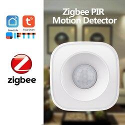 360 ângulo de detecção tuya zigbee pir sensor movimento sem fio detector infravermelho passivo segurança do assaltante alarme sensor tuya controle