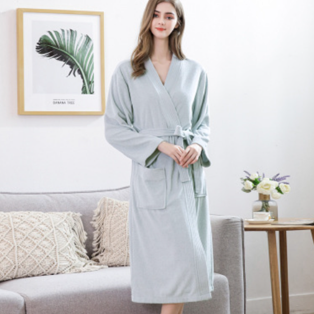 High Quality Bathrobe Women And Men Long Robe Padded Double-Sided Towel Absorbent Quick-Drying Bathrobe Hot Sale Pajama пижама