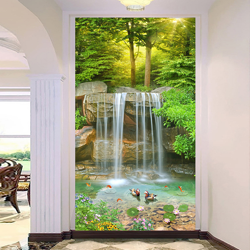 Custom 3D Photo Wall Painting Waterfall Nature Landscape Large Mural Wallpaper Living Room Entrance Corridor Background Decor