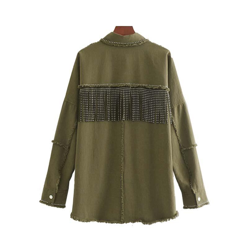 Ha5f7818b2c48434b970ac1da382aea8fP Vintage Stylish Fringe Beaded Oversized Jacket Coat Women 2019 Fashion Long Sleeve Frayed Trim Ladies Outerwear Chaqueta Mujer
