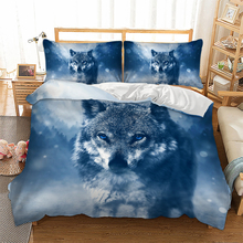 3D Wolf Bedding Sets Solitary print Duvet Cover with Pillowcases Twin full queen king size Bedclothes 3pcs Home Textiles