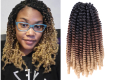Spring Twist Crochet Hair 8 #8243 Marley Braids Curly 30 Strands Synthetic Crochet Braids Hair Extensions Rainbow Omber Colors cheap Belle Show Low Temperature Fiber CN(Origin) 30strands pack Ombre