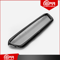 CS Style Carbon Fiber Front Grill (Pre facelifted) Glossy Bumper Grille Body Kit Trim Part For Impreza WRX VAB VAF STI 2014 2017
