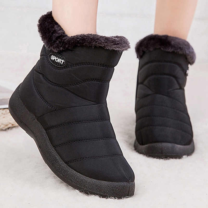 New Winter Women's Boots Antiskid Bottom Shoes Women Winter Warm Fur Snow Ankle Boots Down Keep Warm Boots Booties Botas Mujer