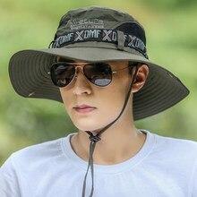 Chapeau de pêche d'été homme femmes large respirant maille casquette de pêche chapeaux de plage soleil hommes en plein air Protection UV chapeau d'ombre