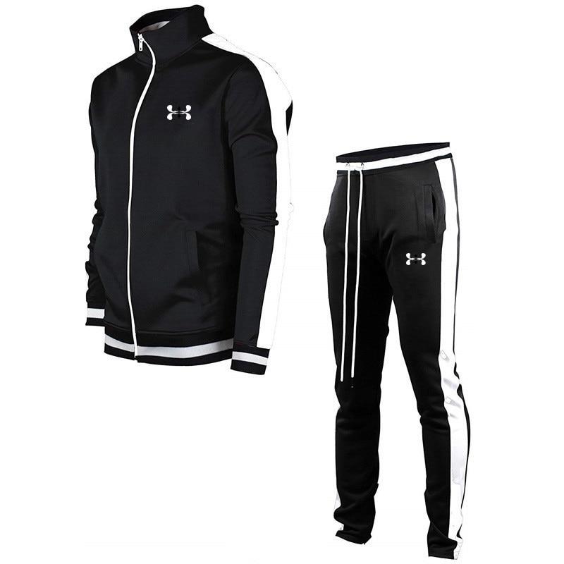 2020 Mens Fashion Sets Hoodies+Pants Autumn Winter Men Hooded Sweatshirt Fleece Hoodie Pant 2 Piece Set Suits Streetwear Hoody