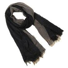 Хлопковый мужской шарф высокого качества, длинный модный шарф в клетку, роскошный теплый осенний и зимний шарф, мужской шарф