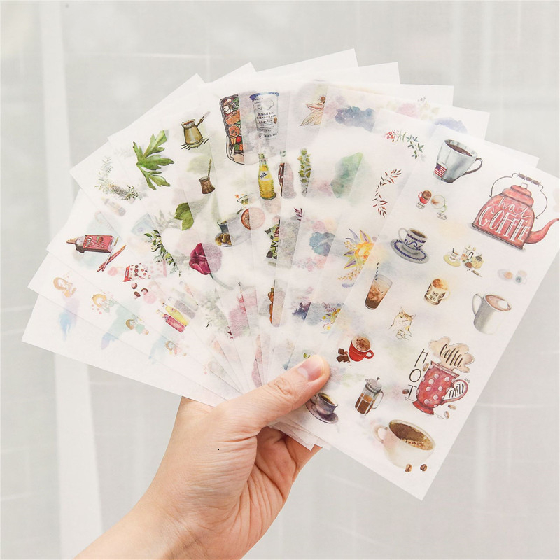Creative Kawaii Stickers Cute Caroon Transparent Unicorn Decoration Handbook DIY Stickers Art Supplies Kids Stationery 06561