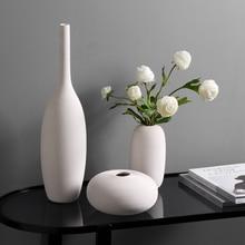 White Art Ceramic Flower Vase decoration home decor accessories for living room Nordic Classic Dining Room Porcelain tall Vases