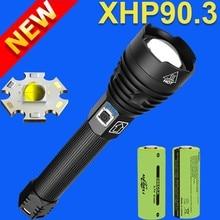 600000lm xhp90.3 led lanterna tocha poderosa lanterna tática usb xhp90 recarregável flash luz 18650 cree xhp70 led tocha