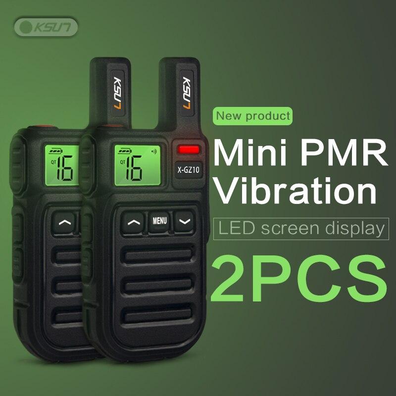 KSUN Walkie-Talkie Vibration Pmr446-Radio VOX Two-Way-Radio Handsfree Mini Wireless-Cloning