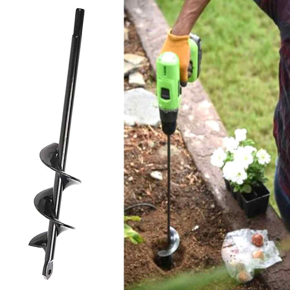 Pro 4 Size Planter Garden Auger Spiral Hole Digger Drill Bit Attachment Yard Kit